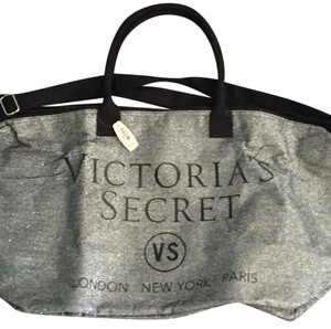 Victoria's Secret Duffle Travel Sparkle Silver Travel Bag