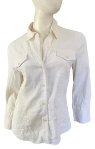 Theory Shirt Button Up Button Down Shirt White