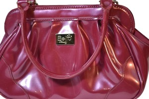 Beijo Patent Leather Small Hot Pink Fuchsia Clutch