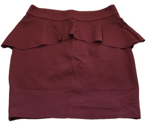 INC International Concepts Ruffle Mini Fitted Skirt Raspberry violet