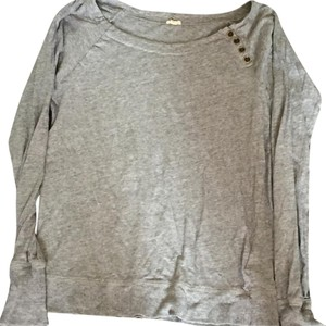 J.Crew Buttons Lounge Comfy Winter T Shirt Gray