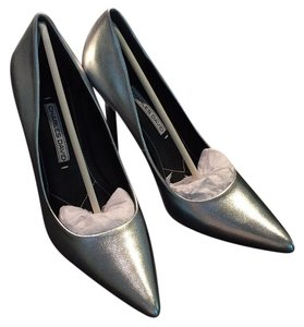 Charles David Metallic Silver Pumps