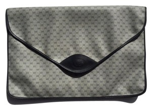 Gucci Luggage Messenger Vintage Blue, Grey, Gold, Black Clutch
