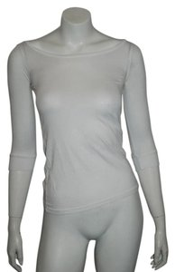 James Perse 3/4 Sleeve Scoopneck T Shirt WHITE