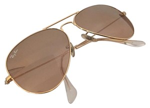Ray-Ban Ray-Ban Sunglasses Small 52mm Aviator. Brown Gradient with gold hardware