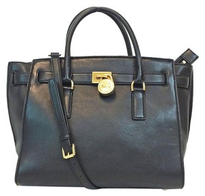 Michael Kors Travel Hamilton Convertible Satchel in BLACK