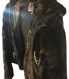 Juicy Couture Fur Faux Fur Hooded Coat