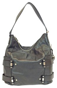 Michael Kors Tubular Silver Gibson Leather Tote in Black