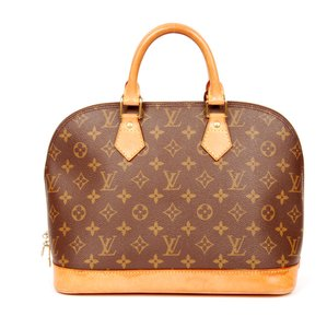 Louis Vuitton Alma Monogram M51130 Totes Satchel in Brown