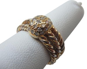 Cartier STUNNING VINTAGE 18K GOLD CASSIOPEIA DIAMOND RING W/ BOX