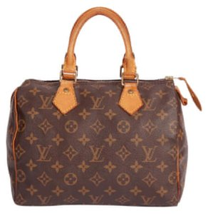 Louis Vuitton Speedy Monogram Canvas Leather Classic Satchel in Brown