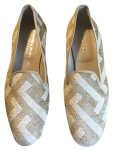 Stubbs & Wootton off white/linen Flats