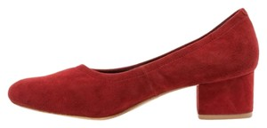 Jeffrey Campbell Block Heel Rust Suede Red Pumps