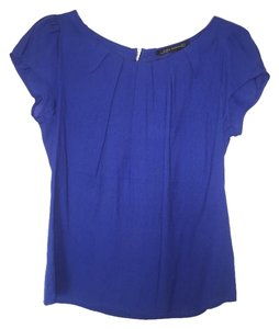 Zara Top Cobalt Blue with black trim