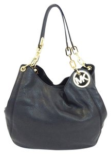 Michael Kors Chains Medallion Shoulder Tote in BLACK