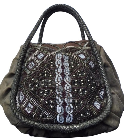 Preload https://img-static.tradesy.com/item/19466497/isabella-fiore-beaded-grey-leather-hobo-bag-0-1-540-540.jpg