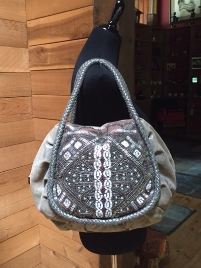 Isabella Fiore Beaded Hobo Bag Image 3