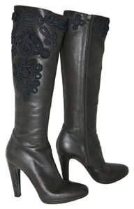 Prada Knee High Leather brown Boots