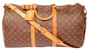 Louis Vuitton Keepall 50 Brown Travel Bag