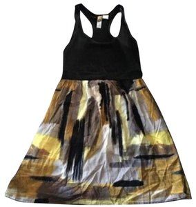 Nordstrom short dress Black and yellow on Tradesy