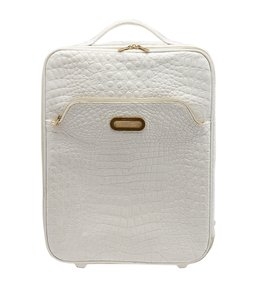 Jimmy Choo Small Suitcase White Travel Bag