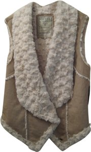 Guess Faux Fur Winter Suede Vest