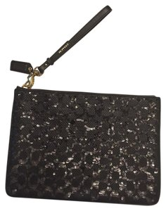 Coach Evening Wristlet in BLACK