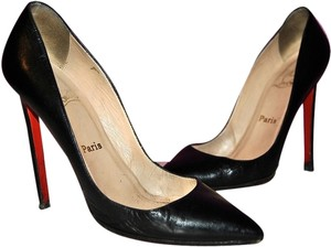 Christian Louboutin Pigalle Lambskin Leather 39 Black Pumps