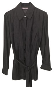 Kate Hill Button Down Shirt Charcoal Gray