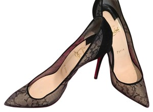 Christian Louboutin Lace Black Pumps