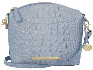 Brahmin Crocodile Leather Patent Classic Edgy Cross Body Bag