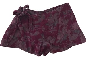 Free People Skort Maroon, purple