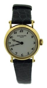 Patek Philippe Patek Philippe Calatrava 18k Yellow Gold Porcelain Dial Watch 4860.