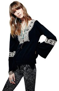 Free People Boho Flower Child Embroidery Tunic