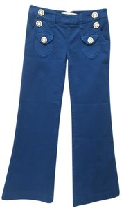 Dittos Sailor Front Flap Flare Leg Jeans-Medium Wash