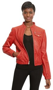 bebe Red Leather Jacket
