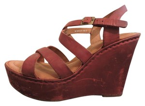 Børn Leather Red Wedges