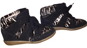 Isabel Marant Wedge Sneaker black and white Athletic