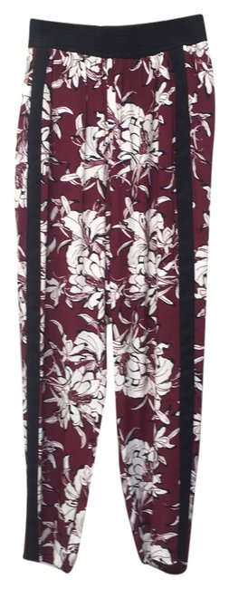 Item - Burgundy Black White Women Pants Size 6 (S, 28)