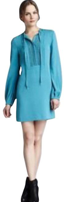 Diane von Furstenberg Teal Green New with Tag Silk Knee Length Night Out Dress Size 2 (XS) Diane von Furstenberg Teal Green New with Tag Silk Knee Length Night Out Dress Size 2 (XS) Image 1