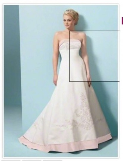 Alfred Angelo Ivory/Tea Rose 1797 Formal Wedding Dress Size 4 (S)