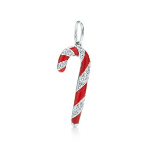 Tiffany & Co. Candy Cane Charm Necklace