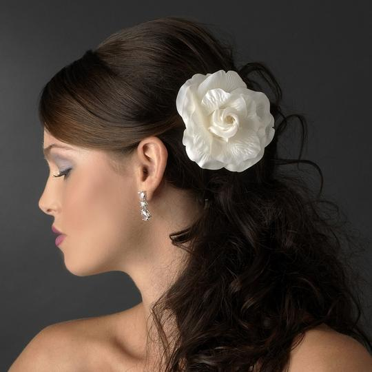Elegant Rose Flower Wedding Bridal Clip