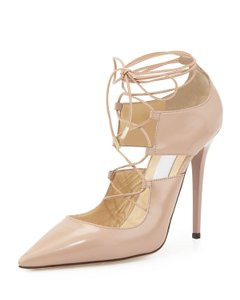 Jimmy Choo Lace-up Heels Current Season Nude Pumps