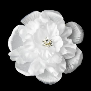 Elegant Jeweled Dahlia Flower Wedding Bridal Hair Clip