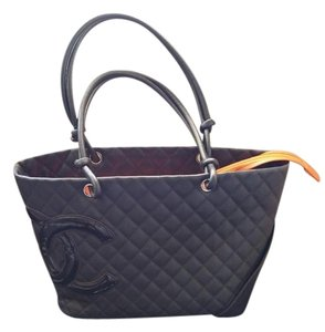 Chanel Leather Large Cc Design Tote in brown