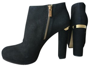 Michael Kors Bootie Black, Gold Hardware Platforms