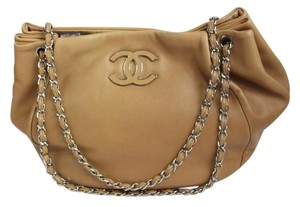 Chanel Tan Shoulder Tote in brown