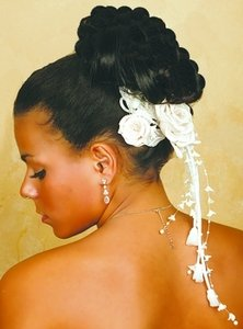 Classy Swarovski Crystal & Rhinestone Swag Dangle Fabric Wedding Bridal Flower Comb