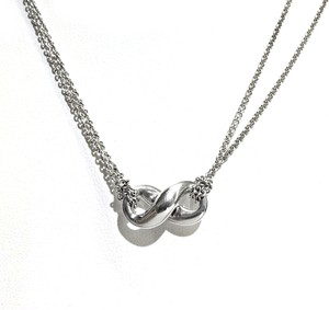 Tiffany & Co. Tiffany & Co Sterling Silver Double Chain Infinity Necklace
